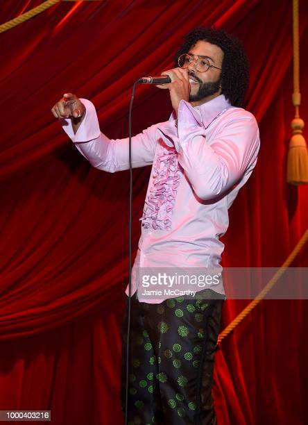 Daveed Diggs performs at the afterparty for the screening of Blindspotting hosted by Lionsgate at Public Arts on July 16 2018 in New York City