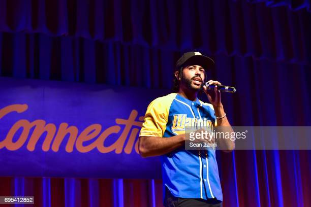 Daveed Diggs Performs during the ArtsConnection 2017 Benefit Celebration at Battery Park City School on June 12 2017 in New York City