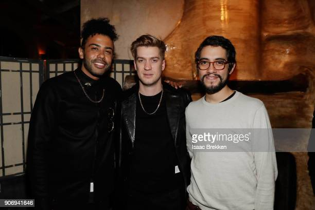 Daveed Diggs Rafael Casal and Carlos Lopez Estrada attend the Blindspotting world premiere afterparty during Sundance Film Festival 2018 at 501 On...