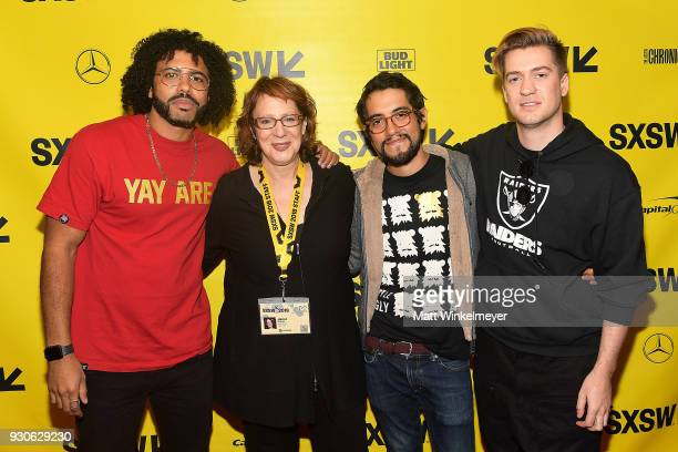Daveed Diggs SXSW Film Festival Director Janet Pierson Carlos Lopez and Rafael Casal attend the 'Blindspotting' Premiere 2018 SXSW Conference and...