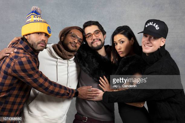 Daveed Diggs Utkarsh Ambudkar Carlos Lopez Estrada Janina Gavankar and Rafael Casal from Blindspotting are photographed for Los Angeles Times on...
