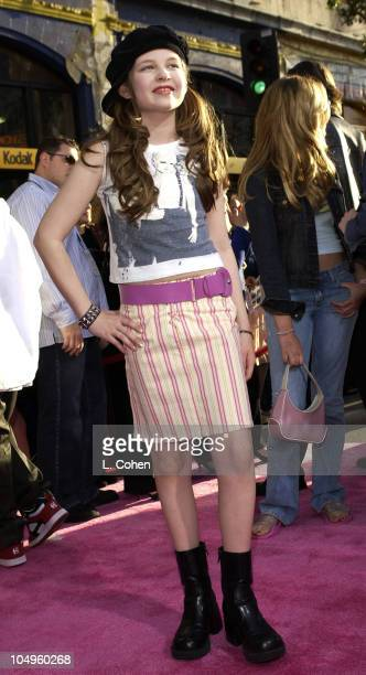 Daveigh Chase during The Lizzie McGuire Movie Premiere at The El Capitan Theater in Hollywood California United States