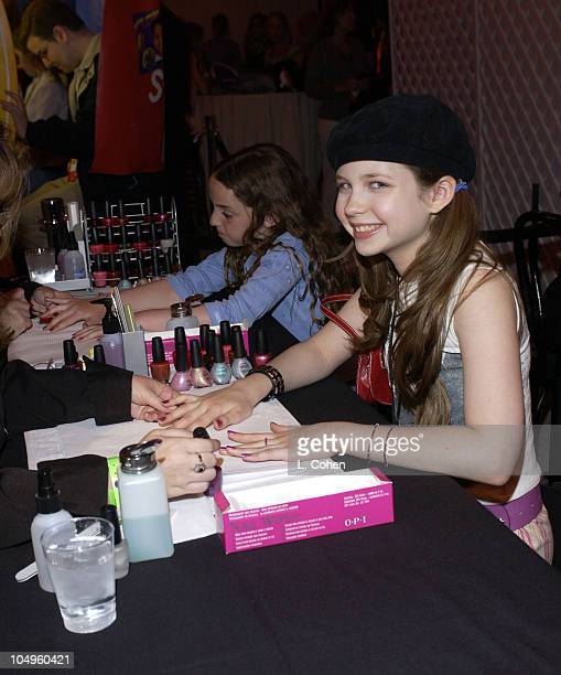 Daveigh Chase getting her nails done during The Lizzie McGuire MoviePremiere After Party at The El Capitan Theater in Hollywood CA United States