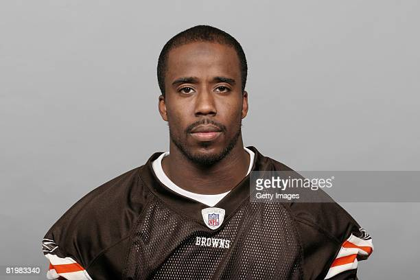 Daven Holly of the Cleveland Browns poses for his 2008 NFL headshot at photo day in Cleveland Ohio