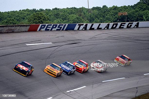 Davey Allison leads the Winston 500 on his way to the last of his three Talladega Superspeedway NASCAR Cup victories