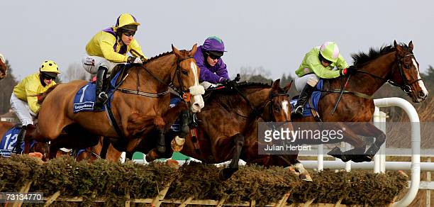 Davey Condon and Scotsirish lead the Barry Geraghty ridden Hairy Molly and the Robert Power partnered Classic Vic over an early flight before landing...