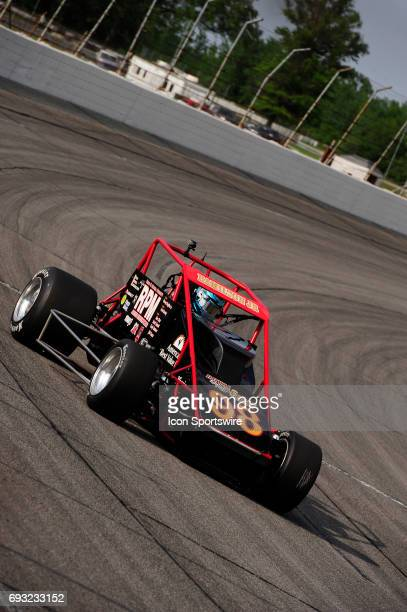 Davey Hamilton Jr RPM/Gormly makes a lap in time trials for the Carb Night Classic United States Auto Club Silver Crown Champ Car Series 100lap...