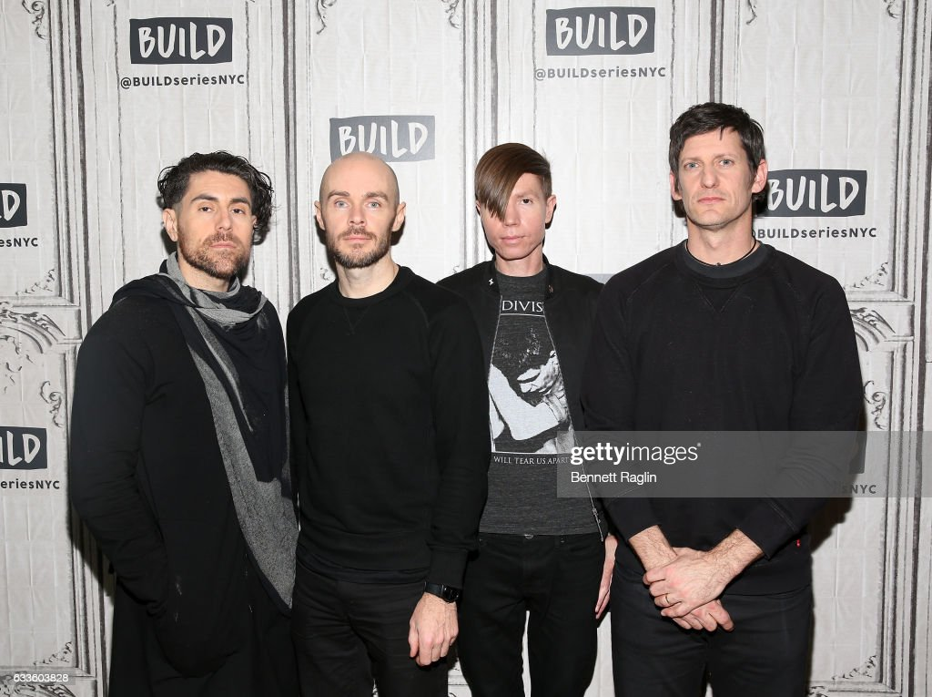 Build series presents afi discussing their new record davey havok hunter burgan jade puget and adam carson of afi attend the m4hsunfo