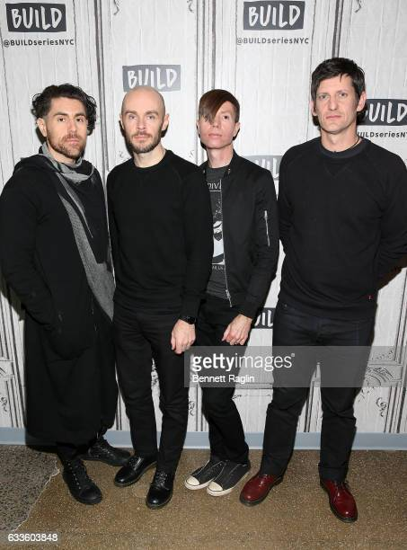 Davey Havok Hunter Burgan Jade Puget and Adam Carson of AFI attend the Build series at Build Studio on February 2 2017 in New York City