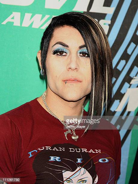 Davey Havok of AFI during 2006 MTV Movie Awards Arrivals at Sony Pictures in Culver City California United States