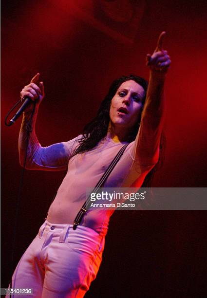 Davey Havok of AFI during AFI Live Headling Show at House Of Blues in West Hollywood CA United States