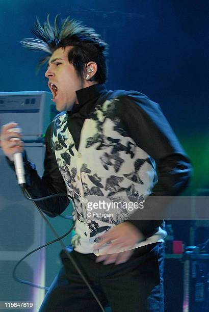 Davey Havok of AFI performs at The 2007 Download Festival at The Shoreline Amphitheatre in Mountain View CA on October 6 2007