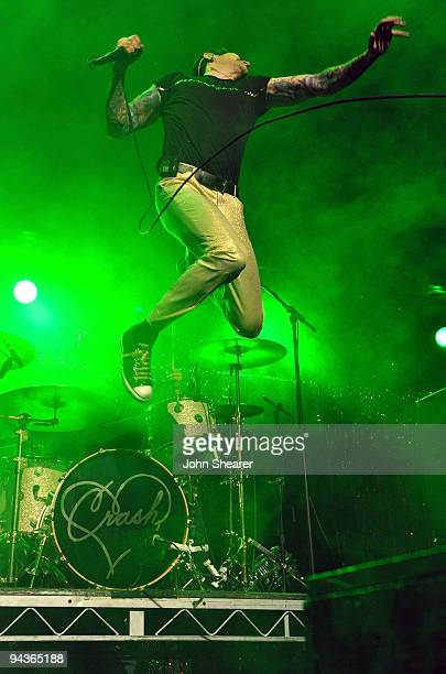 Davey Havok of AFI performs during the KROQ Almost Acoustic Christmas at Gibson Amphitheatre on December 12 2009 in Universal City California
