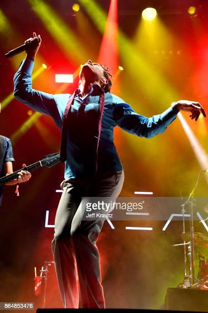 Davey Havok of Dreamcar performs at Piestewa Stage during day 2 of the 2017 Lost Lake Festival on October 21 2017 in Phoenix Arizona