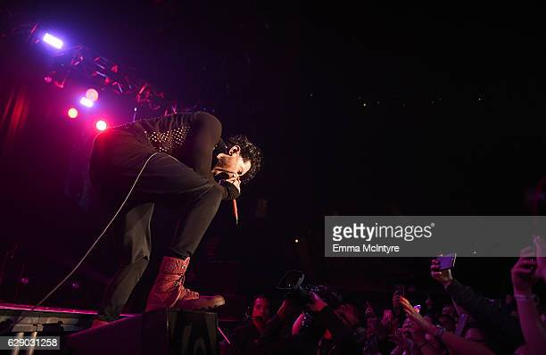 Davey Havok of the band AFI performs onstage at 1067 KROQ Almost Acoustic Christmas 2016 Night 1 at The Forum on December 10 2016 in Inglewood...