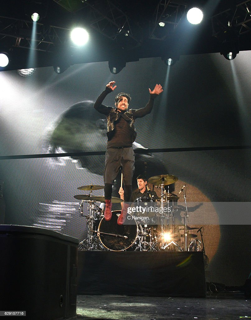 Davey Havok of the band AFI performs onstage during 106.7 KROQ Almost Acoustic Christmas 2016 - Night 1 at The Forum on December 10, 2016 in Inglewood, California.