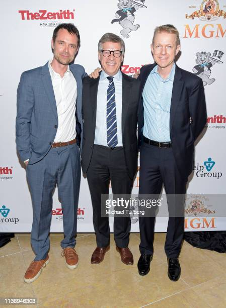 Davey Holmes Steve Stark president of television and development at MGM and Lionsgate Television Group chairman Kevin Beggs attend The Help Group's...