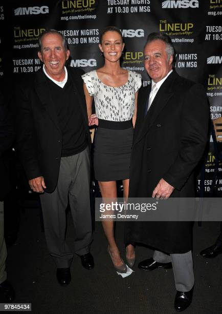 Davey Johnson Paige Butcher and Tony Sirico attend launch party for the MSG Network premiere of 'The Lineup New York�s AllTime Best Baseball Players'...