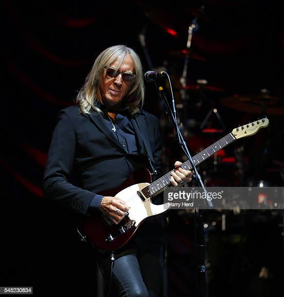 Davey Johnstone of the Elton John band perfoms at Henley Festival at River and Rowing Museum on July 6 2016 in HenleyonThames England