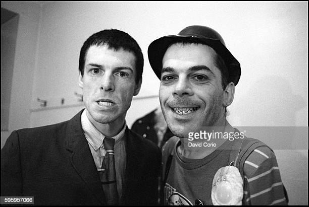 Davey Payne backstage with Ian Dury at Colston Hall Bristol 1979