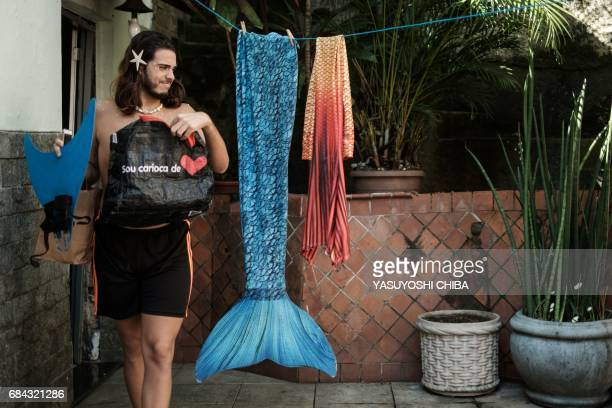 Davi de Oliveira Moreira known as Sereio gets ready at home before leaving for Ipanema Beach in Rio de Janeiro Brazil on May 3 2017 The 22yearold...