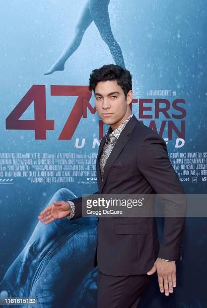 Davi Santos arrives at the LA Premiere Of Entertainment Studios' 47 Meters Down Uncaged at Regency Village Theatre on August 13 2019 in Westwood...