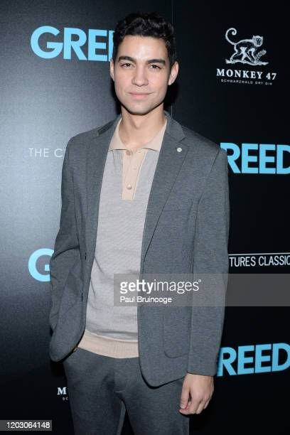 "Davi Santos attends The Cinema Society & Monkey 47 Host A Special Screening Of Sony Pictures Classics' ""Greed"" at Cinepolis Chelsea on February 24,..."