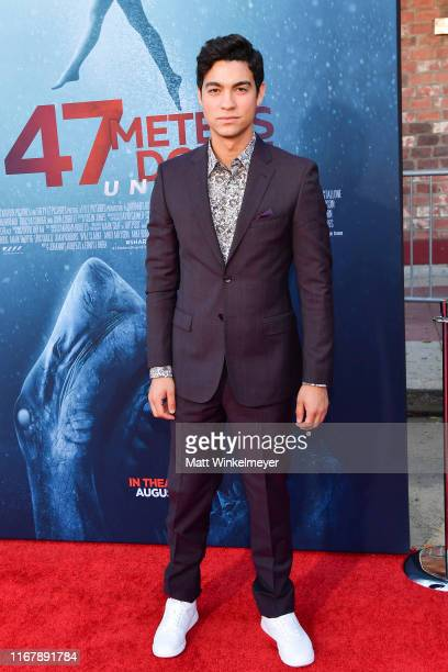 Davi Santos attends the LA Premiere of Entertainment Studios' 47 Meters Down Uncaged at Regency Village Theatre on August 13 2019 in Westwood...