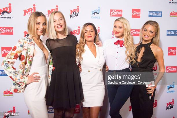 Davia Martelli Marine Paquet Maeva TatianaLaurens Delarue and guest attend the NRJ's Press Conference to Announce Their Schedule for 2017/2018 on...