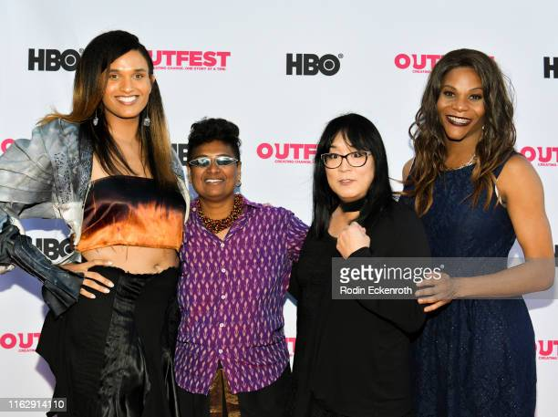 Davia Spain Neelu Bhuman Ryka Aoki and Blossom C Brown attend the Outfest Los Angeles LGBTQ Film Festival Opening Night Gala premiere of Circus Of...