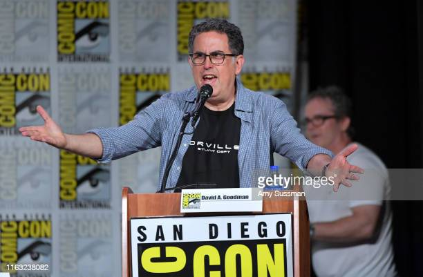 David A Goodman speaks at The Orville Panel during 2019 ComicCon International at San Diego Convention Center on July 20 2019 in San Diego California