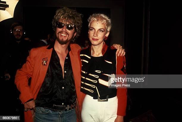 David A Stewart and Annie Lennox of Eurythmics circa 1985 in New York City
