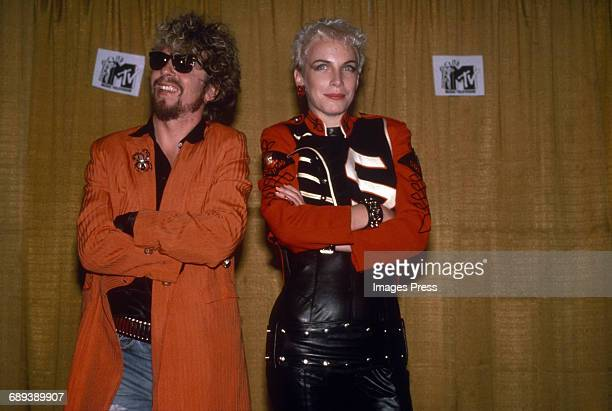 David A Stewart and Annie Lennox of Eurythmics circa 1985 in New York City