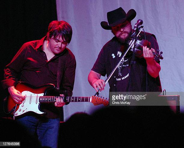 David Abeyta and Cody Braun of Reckless Kelly perform at Buckhead Theatre on March 25 2011 in Atlanta Georgia