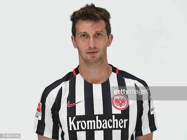 David Abraham poses during the Eintracht Frankfurt Team Presentation on July 21 2016 in Frankfurt am Main Germany