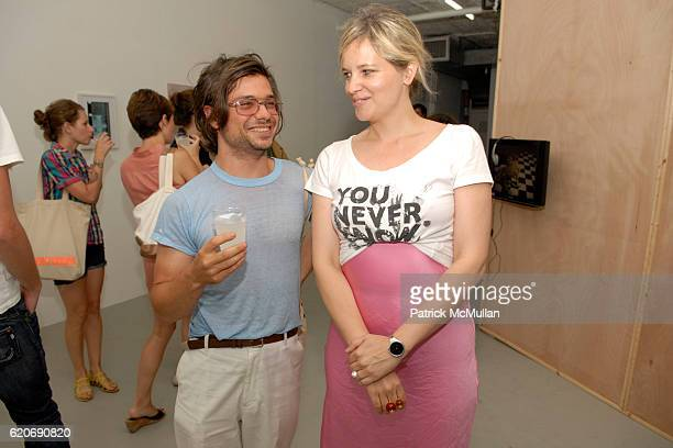David Adamo and Ylva Ogland attend RENTAL Gallery presents FAIR MARKET at 120 East Broadway on July 17 2008 in New York City