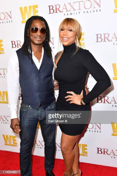 David Adefeso and Tamar Braxton are seen as We TV celebrates the premiere of Braxton Family Values at Doheny Room on April 02 2019 in West Hollywood...