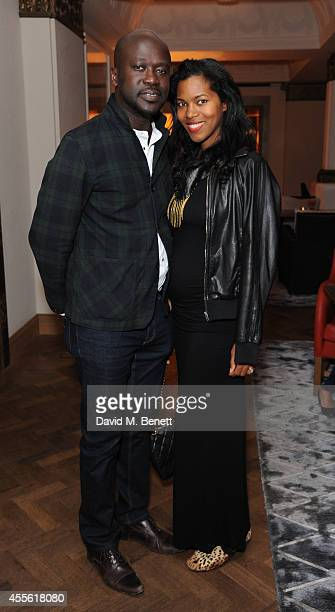 David Adjaye and Ashley Shaw Scott Adjaye attends the STANDSEVEN party hosted by David Adjaye and Ross Lovegrove at The Club at Cafe Royal on...