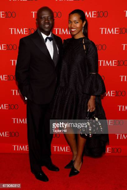 David Adjaye and Ashley ShawScott attend the 2017 Time 100 Gala at Jazz at Lincoln Center on April 25 2017 in New York City