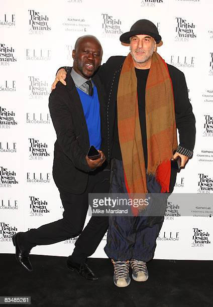 David Adjaye and Ron Arad attends Elle Decoration British Design Awards 2008 at No 1 Marylebone on October 29 2008 in London England