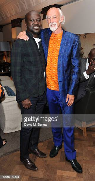 David Adjaye and Ross Lovegrove attends the STANDSEVEN party hosted by David Adjaye and Ross Lovegrove at The Club at Cafe Royal on September 17 2014...