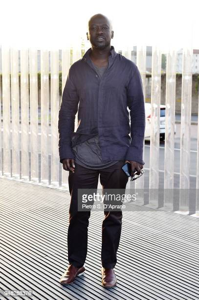 David Adjaye attends Private Event On The Occasion Of The Opening Of Torre at Fondazione Prada on April 18 2018 in Milan Italy