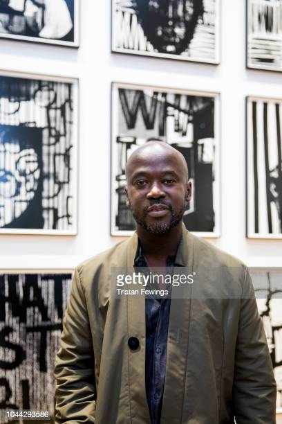 David Adjaye attends the opening of Adam Pendleton's exhibition as Pace Gallery presents Adam Pendleton during Frieze Week on October 1 2018 in...
