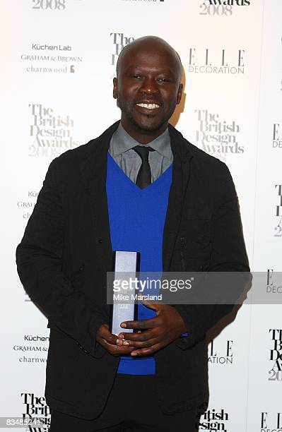 David Adjaye wins Best architectural achievement at the Elle Decoration British Design Awards 2008 at No 1 Marylebone on October 29 2008 in London...