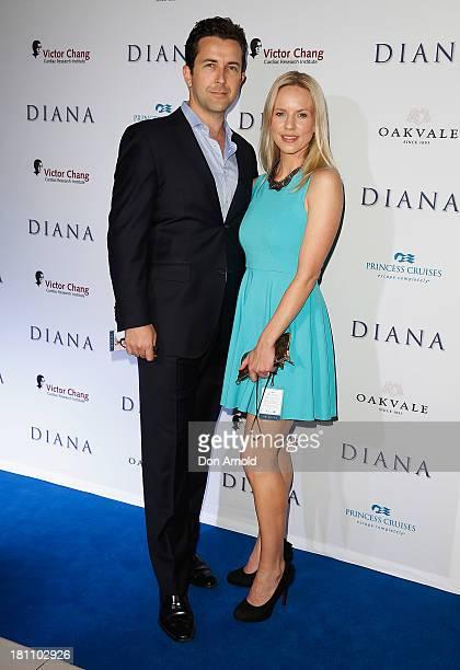 David Adler and Jessica Napier arrive at the Australian premiere of Diana' at Event Cinemas George Street on September 19 2013 in Sydney Australia