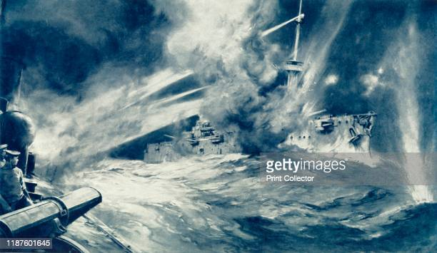 British TorpedoBoat Destroyer Makes an End of German Battleship' 1916 HMS Spitfire in action at the Battle of Jutland May 31st 1916 From The War...