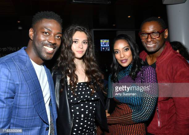 David Ajala Nicole Maines Azie Tesfai and David Harewood attends Entertainment Weekly's ComicCon Bash held at FLOAT Hard Rock Hotel San Diego on July...