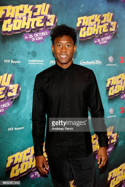 David Alaba attends the 'Fack ju Goehte 3' premiere at Mathaeser Filmpalast on October 22, 2017 in Munich, Germany.