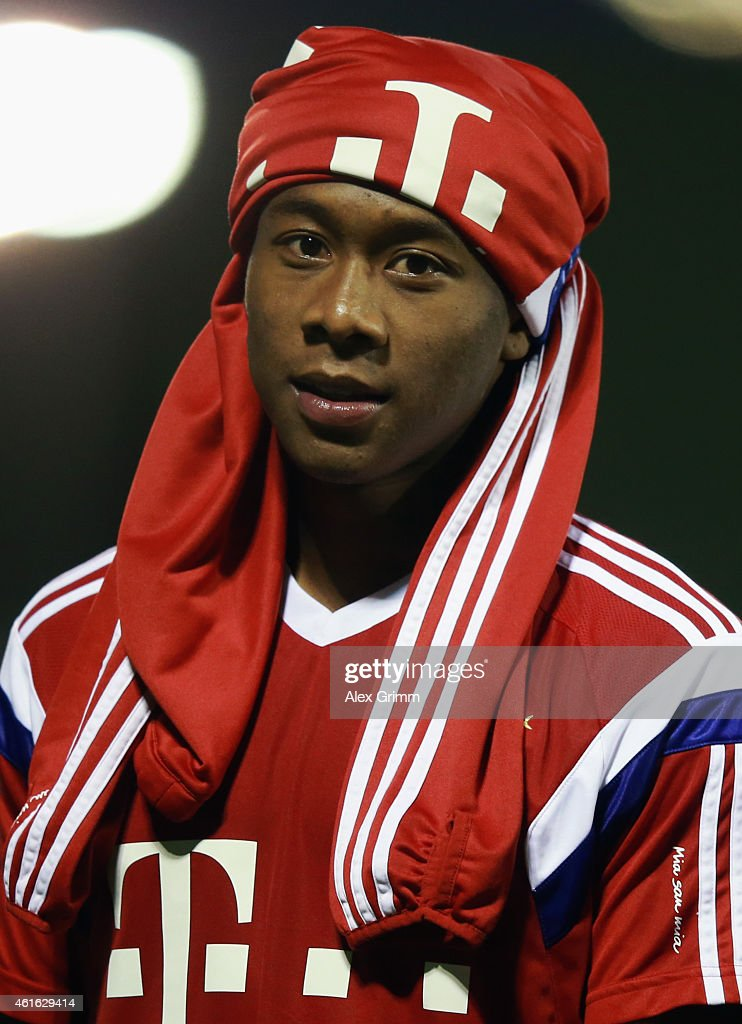 David Alaba leaves the pitch during day 8 of the Bayern Muenchen training camp at ASPIRE Academy for Sports Excellence on January 16, 2015 in Doha, Qatar.