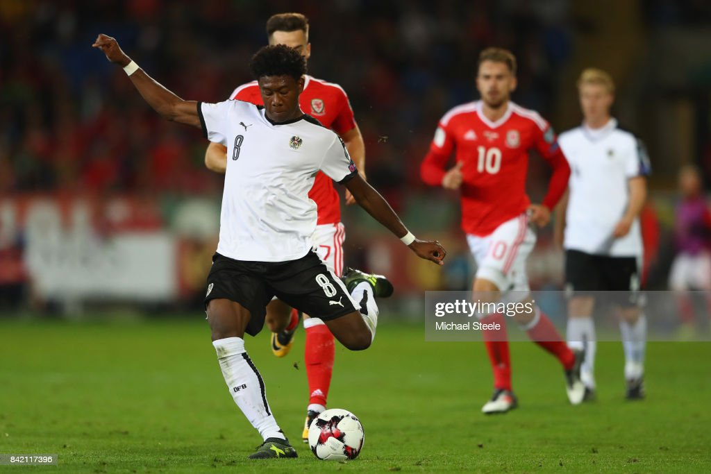 David Alaba is Austria's best player, but is he used at the right position? (Photo by Michael Steele/Getty Images)